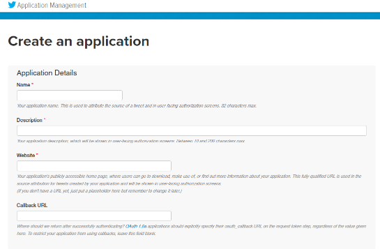 twitter application bot